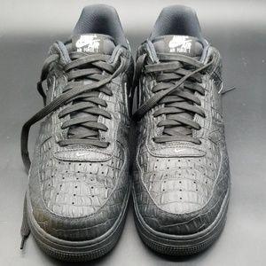 Nike Shoes - NIKE AIR FORCE 1 LOW LV8 BLACK CROC MEN'S SHOES
